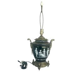Pate-Sur-Pate Porcelain Table Lamp with Bronze Mount.