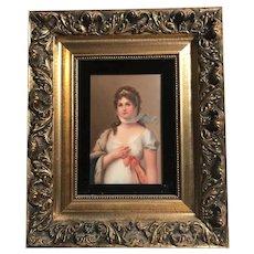 19th Century German Porcelain Plaque Queen Louise of Prussia