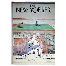 Original 1976 The New Yorker Magazine Poster, S. Steinberg, Romanian, American