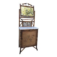 19th Century English Bamboo Side Cabinet.