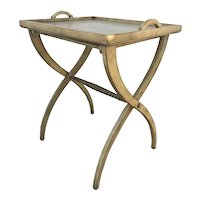 Vintage Hand Painted Wooden Butler Tray Game Table