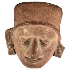 Pre-Columbian Mexican Pottery Head
