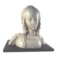 Large French Female Renaissance Bust, Austin 1970