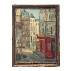 Parisian Cityscape, Signed and Framed Oil on Canvas by Serge Belloni, '57
