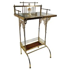Charles Parker Aesthetic Movement Brass Telephone Table Stand ca.1880
