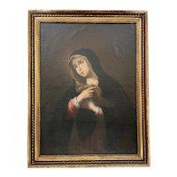 18th Century Italian Old Master, Large Emilian School Painting - Weeping Madonna -