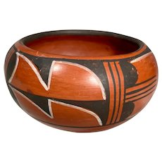 Native American Red Ware Hopi Pottery Signed, ANITA POLACCA, 1998.