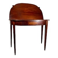 Antique English Sheraton Style Satinwood Fold Top Console Table.