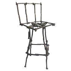 Mid-Century Modern Brutalist Railroad Spikes Chair Sculpture