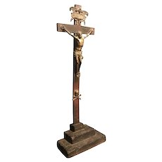 Important Italian 17th century bronze crucifix after Giambologna, Florence, 1529-1608