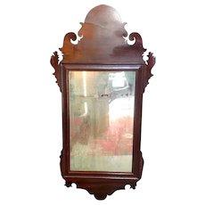 18th Century American Chippendale Mahogany Mirror.
