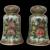 Antique Chinese Rose Medallion Porcelain Salt And Pepper Shakers Set