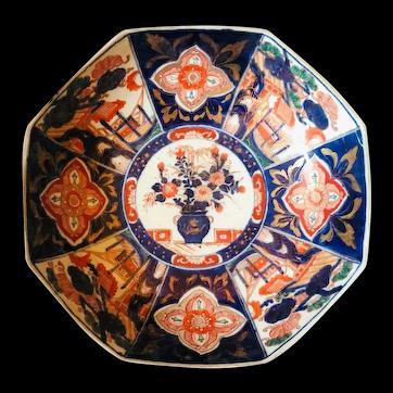 Meiji Period Large Japanese Imari Porcelain Bowl Centerpiece