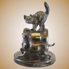 Silverplate Cat & Dog Figural Napkin Ring Wm. Rogers