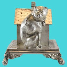 Silverplate Bull Dog Figural Napkin Ring Simpson Hall Miller