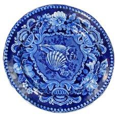 "Joseph Stubbs Staffordshire ""Shells"" Pattern 10 1/4"" Plate"