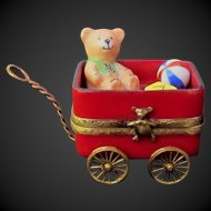 Limoges Christmas Wagon Trinket Box