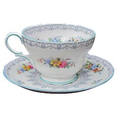 Shelley Crochet Cup and Saucer 13303