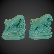 Rookwood William Purcell McDonald Rook Raven Green Bookends 1930