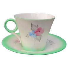 Shelley Phiox Cup and Saucer Excellent Condition #12191