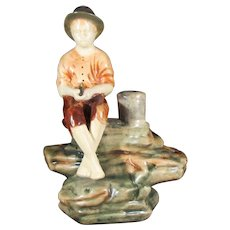 Weller Muskota Fishing Boy Flower Frog