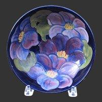 """William Moorcroft Clematis 8 1/4"""" Inch Bowl"""