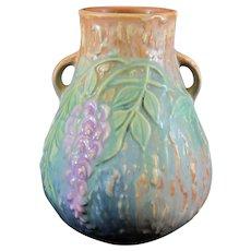 Roseville Wisteria Vase in Blue Shape 631-6