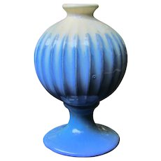 Unusual Fulper Bulbous Ribbed Vase