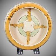 Roseville Juvenile Bunny Rabbit Rolled Edge Baby's Plate
