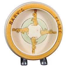 Roseville Juvenile Bunny Rabbit Rolled Edge Baby's Plate