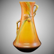 Roseville Pottery Brown Pine Cone Vase 712-12