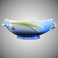 Roseville Pinecone Center Bowl in Cobalt Blue 279-9