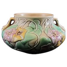 Roseville Pottery Morning Glory White Bowl 268-4