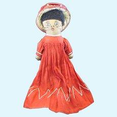 Antique Black Rag Doll Dressed for Church