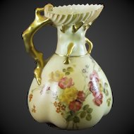 Royal Worcester Blush Ivory Ewer Jug Reg 167140