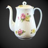 Shelley Dainty Shape Begonia Demitasse Coffee Pot 13427