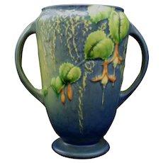 """Roseville Blue Fuchsia Vase #893-6"""" Bold Colors & Crisp Mold"""