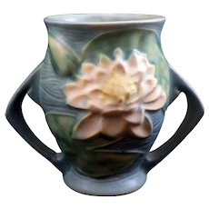 Roseville Water Lily Pottery Double Handle Vase 71-4