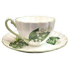 Shelley China Lily Of The Valley Cup & Saucer Dainty Shape 13822
