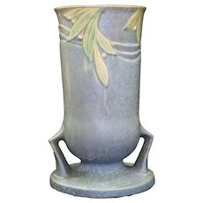 Roseville Pottery Velmoss II Blue Vase 720-10