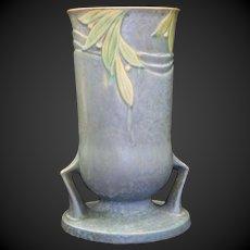 Roseville Pottery Velmoss II Blue Vase 720-10