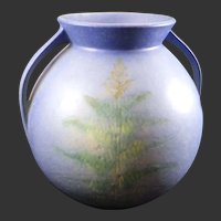 Roseville Pottery Blue Windsor Fern Vase 551-7