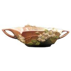 Roseville Pottery White Rose Bowl 393-12