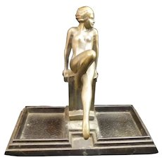 Art Deco Nude Lady Pin or Dresser Tray