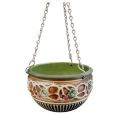Roseville Normandy Hanging Planter Basket #341-5