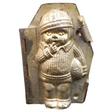 Stamped German Chocolate Mold Boy Football Player