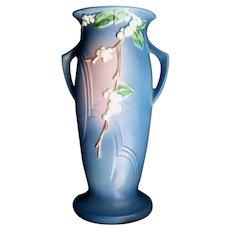 Roseville Pottery Snowberry Blue Floor Vase 1V-18