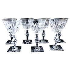 7 Hawkes Wine Champagne Tall Sherbets St. George Pattern