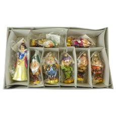 Christopher Radko Snow White and The 7 Dwarfs Orginial Box and Packing