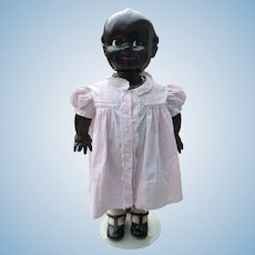 """Extraordinary 27"""" Metal African American Store Display Kewpie Doll"""